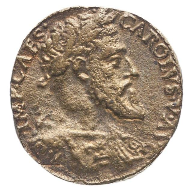 Keizer Karel V, door de stad Milaan.