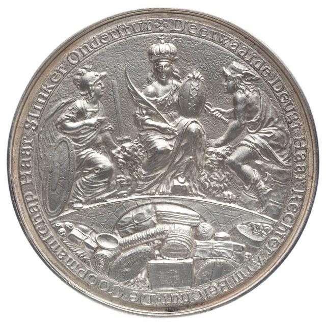 Voltooiing van de Beurs te Amsterdam in 1611.