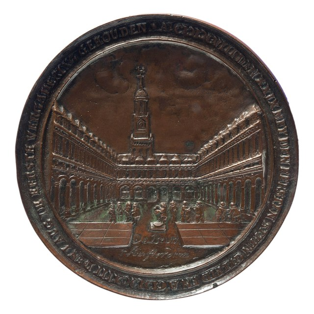 Voltooiing van de Beurs te Amsterdam in 1612 (later werk, in opdracht van Schoemaker).