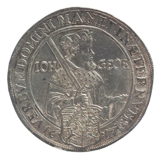 Eeuwfeest van de Reformatie (herdenkingsdaalder) te Saksen.