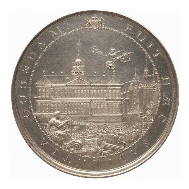 Voltooiïng van het stadhuis van Amsterdam.