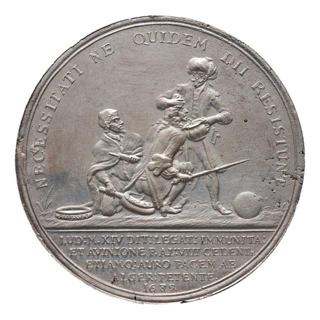 Vrede tussen Frankrijk en Algiers en het afstaan van Avignon aan de Paus.