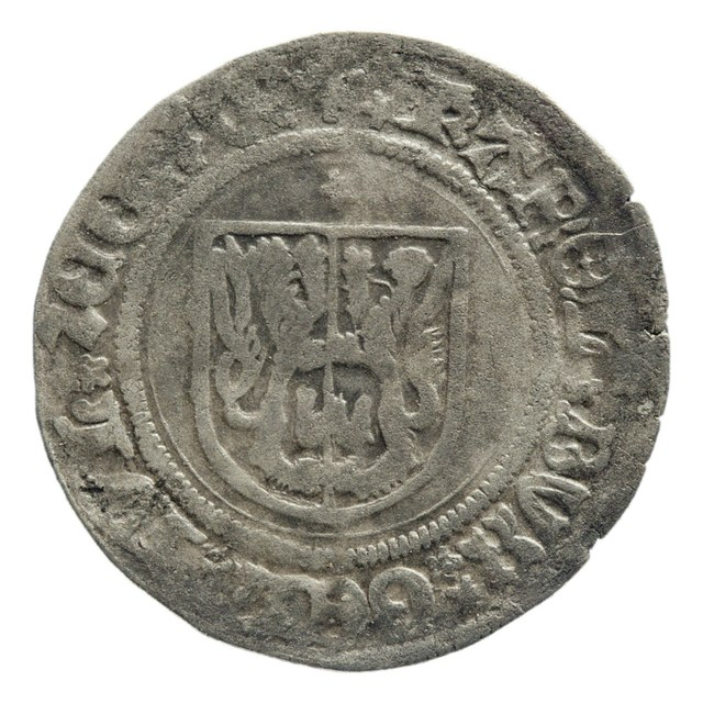 Stuiver uit Gelre op naam van Karel van Egmond, hertog (1477-1480, 1492-1538) / Catharina van Gelre, voogdes (1477-1480).