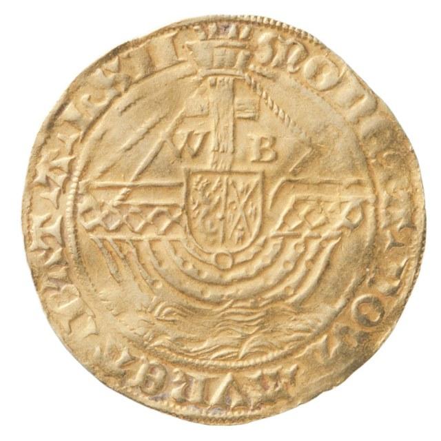 Angelot uit Batenburg op naam van Willem V van Bronckhorst, heer van Batenburg en Stein (1556-1573).
