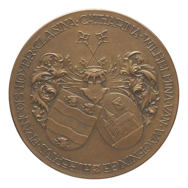 Vijftigjarig huwelijk Hubertus François Hoijer en Clasina Catharina Wilhelmina van Wageninge.