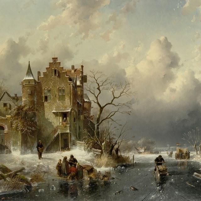 Nieuwe aanwinst: Winterlandschap van Charles Leickert