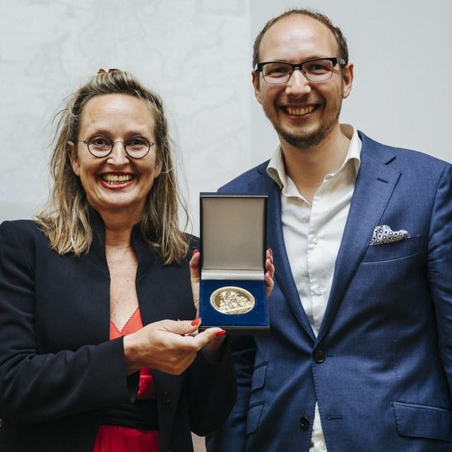 Olga van Marion en Tim Vergeer winnen gouden prijspenning