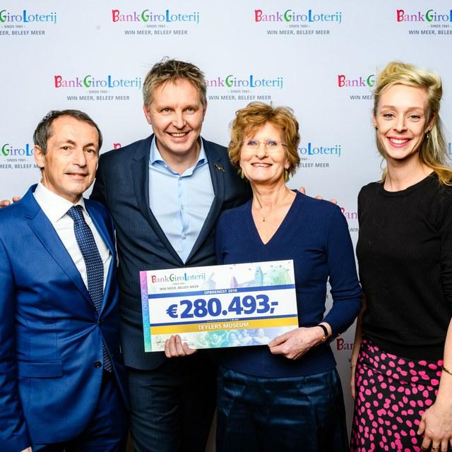 Teylers ontvangt bijdrage van BankGiro Loterij